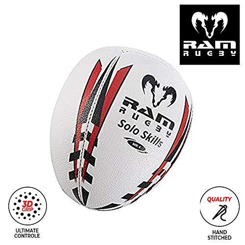 Ram Solo Skills - Pelota de Rugby para Entrenamiento de Sombras (Tallas 5, 4 y 3)