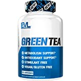 Evlution Nutrition Green Tea Leaf Extract Supplement with EGCG for Metabolism and Antioxidant Support, Stimulant Free, Gluten Free (60 Servings)