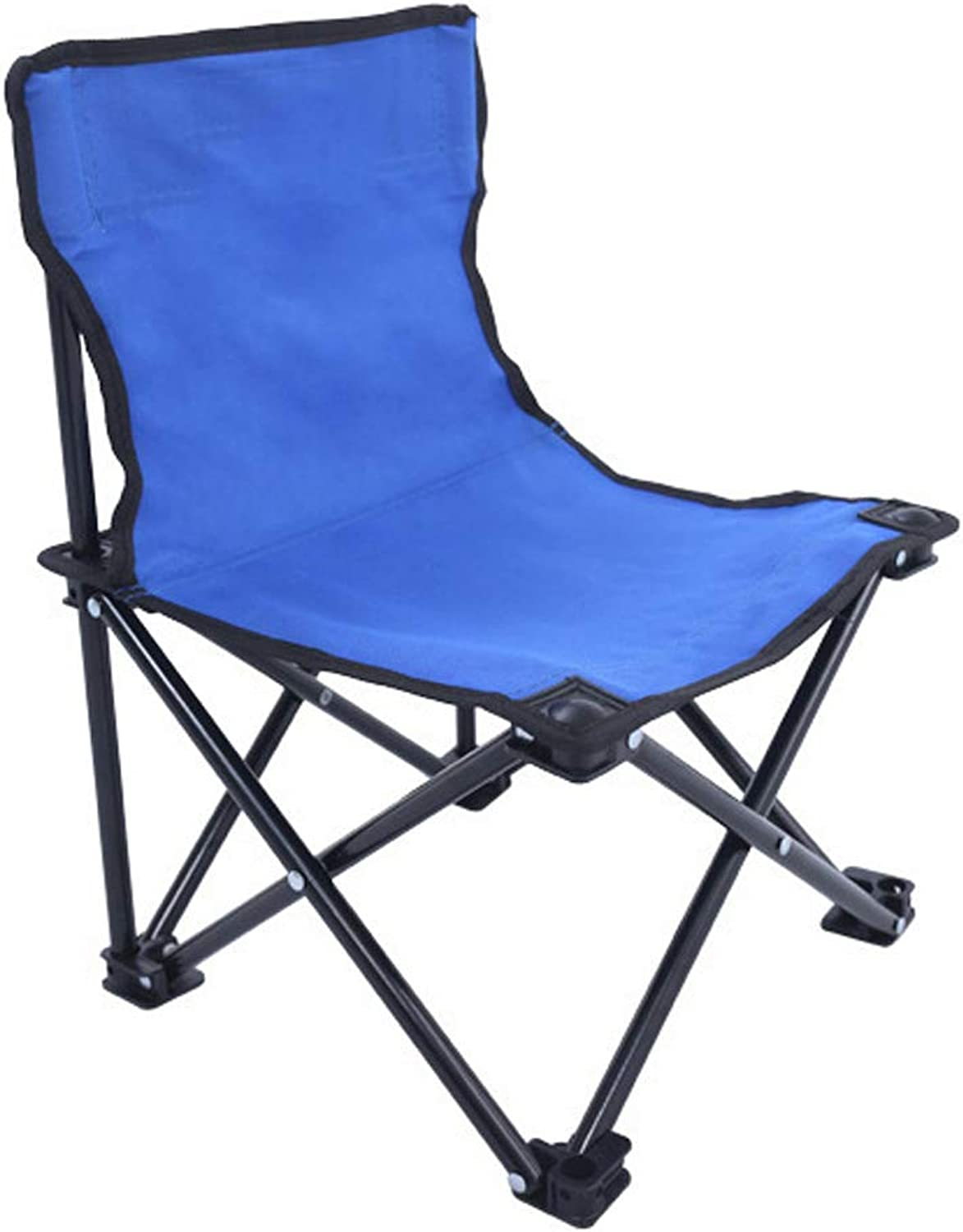 L- Small Camping Chair Lightweight Portable Folding Stool with Carry Bag for Mountaineering Adventure Hiking Fishing Beach Picnic Party Gardeningbluee Stable