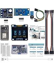 Karelu ESP8266 Weerstation kit met DHT11 temperatuur luchtvochtigheid BMP180 lichtsensor 0,96 inch OLED IIC display voor