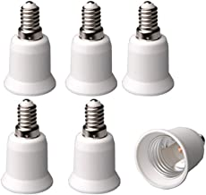 E-Simpo® 6-Pack E14 to E27 Adapter, Chandelier Bulb Base, E14 to E27 Extend Base LED CFL Light Bulb Adapter, CE Rohs, Z1047
