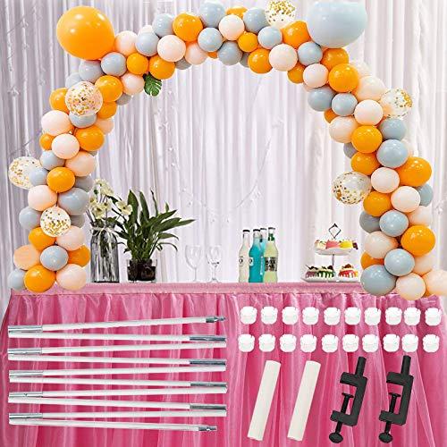 LIBRNTY Kit de guirnaldas con globos,Arco para Globos,Columna de globos ajustable en alturaPara diferentes Tamaño de la mesa Cumpleaños, Boda,Baby Shower, Graduación y Decoración de Fondo de Fiesta