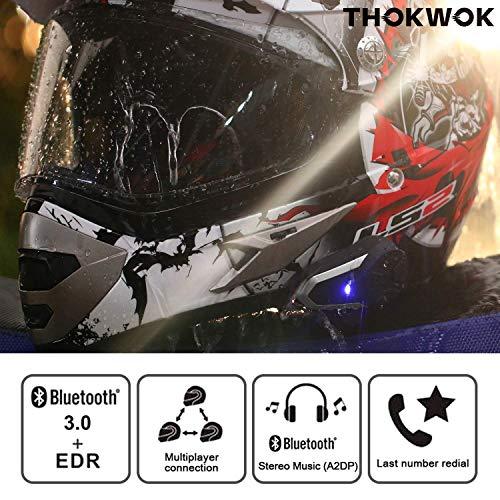 Product Image 2: THOKWOK Motorcycle Bluetooth Headset