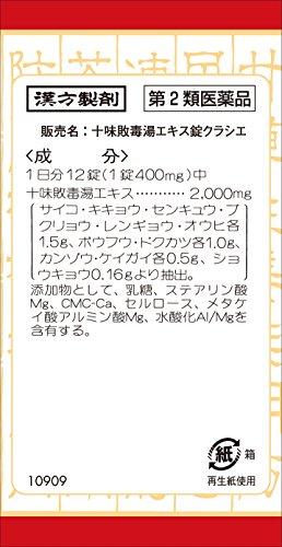 【第2類医薬品】十味敗毒湯エキス錠クラシエ180錠
