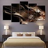 Toile imprimée Peinture à l'huile Abstraite Classique Guitare électrique décoration de la Maison Impression Affiche Murale Art sans Cadre 40 * 60 40 * 80 40 * 100