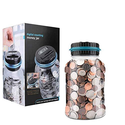 Vegena Geld Sparen Box Gigital, Automatische Münzzähler Spardose mit LCD-Display, Münze Zählwerk Münze Bank Digitale Münze Zählen Große Kapazität für Kinder Erwachsene ( Euro )