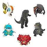 Godzilla Giocattoli Anime Action Figure, 6 Pezzi Dinosaur Action Figures Movie Dinosaur Monsters Model, Collection Action Figures Model, Animato Giocattoli per Bambini Ornamenti