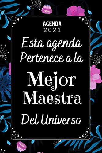 AGENDA 2021 Mejor Maestra: Agenda Semanal 2021 A5 , una Semana en dos Páginas , Regalos originales mujer Profesora Maestra