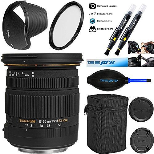 Sigma 17–50°F/2.8EX DC OS HSM lente de zoom para Canon cámaras réflex digitales con APS-C sensores–deal-expo Bundle