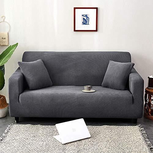 JBNJV Funda de sofá elástica, Lavable, Antideslizante, de Spandex, Suave, Suave, para sofá, Elegante, Protector de Muebles, 3 plazas, Espuma Antideslizante, Gris Oscuro XL: 235-300cm (92-119 pulga