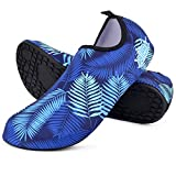 Chillbo Water Shoes - Beach Shoes for Men and Womens Water Shoes - 7 Vibrant Styles Swimming Shoes and Water Shoes for Women for Beach Swim Yoga Exercise (M 8-9 Men / 9-10.5 Women, Blue)