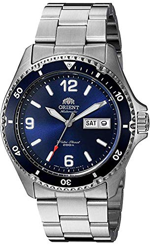 Orient Men's 'Mako II' Japanese Automatic Stainless Steel Diving Watch, Color:Silver-Toned (Model:...