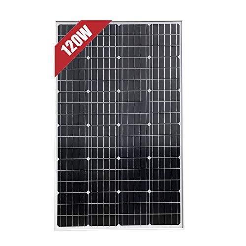 panel solar monocristalino de 120W 12V para casa, caravana, barco, hogar, jardín, Cargar baterías