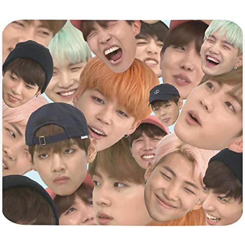 BTS-Kpop-Slim Mouse pad,Stitched Edges & Skid Proof Rubber Base,Gaming Mousepads for Computers,Laptop,Office & Home