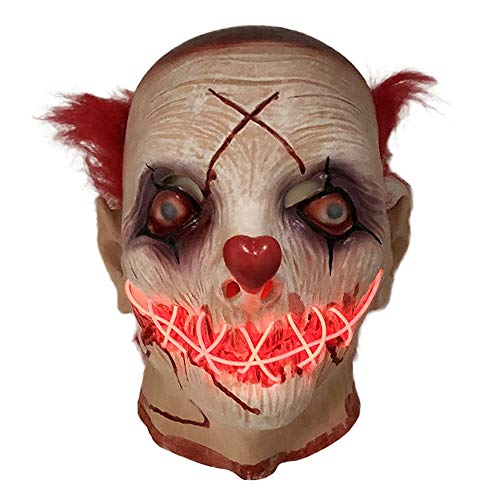 Oplichten Latex Clown Masker Fancy Dress Plezier voor Evenementen en Feesten Plezier Halloween Party Dress Up Cosplay