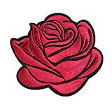 Parche con diseño de flores de rosas para planchar o para bolsa de flores, accesorio decorativo para ropa