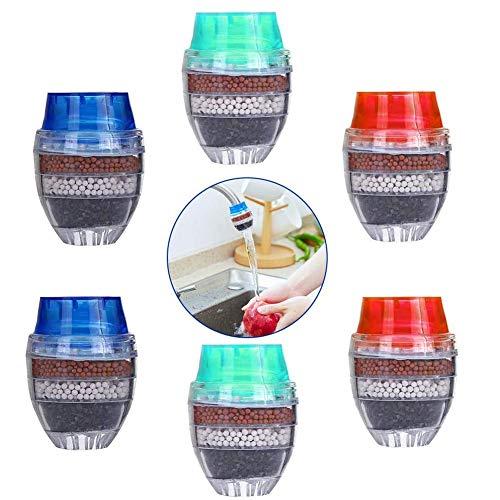 6PCS Mini Wasserhahn Wasserfilter Aktivkohle-runder Hahn Wasser Filter - Mini Home Coconut Aktivkohlefilter - Küche Werkzeug