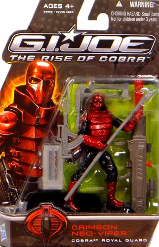 G.I. Joe The Rise of Cobra Action Figure - Crimson Neo Viper Cobra Royal Guard