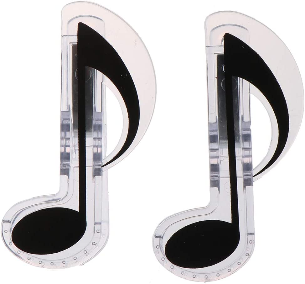 2 low-pricing Pcs Plastic Music Note Holder Choice Book Trebl Page Clips