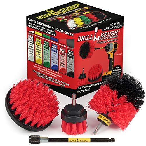 Im Freien - Reinigungsprodukte - Drill Brush - Stiff Borste Power-Scrubber Kit mit Erweiterung für - Garten - Feuerstelle - Patio - Deck - Bodenreiniger - Beton - Stein - Ziegel - Spin Brush - Vogel
