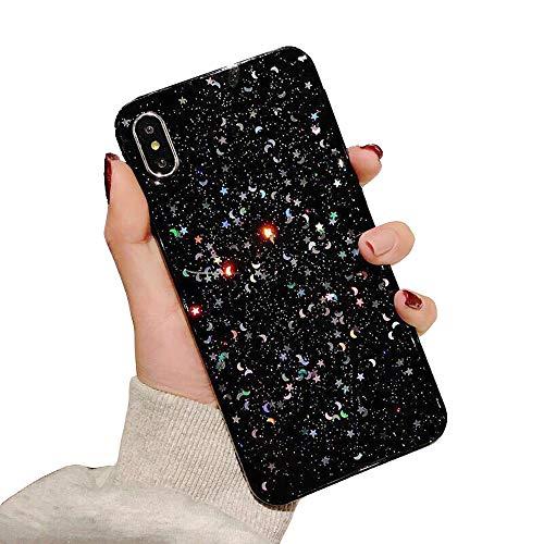 ZHYLIN telefoonhoesje Glitter Star Moon telefoonhoesje voor Huawei Mate 10 20pro schattig creatief TPU telefoonhoesje voor Huawei P10 P20 P30pro PlusBack hoesje