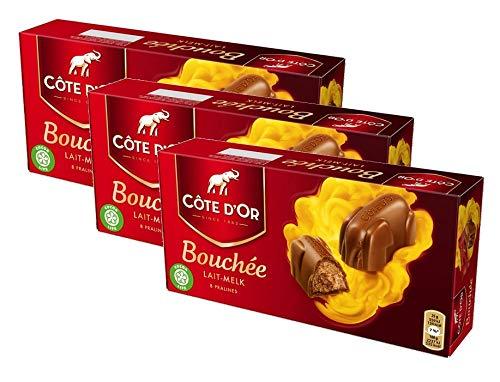 Cote d'Or Bouchee Lait, confezione da 3, 3x200g (16x25g)