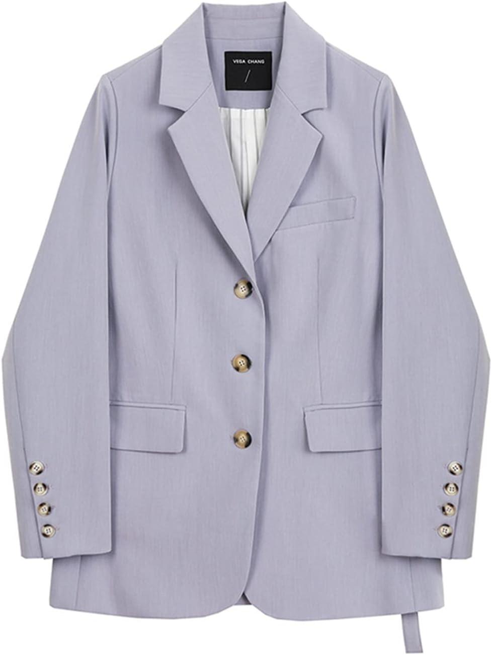 BXSM Purple Suit Commuter Fashion Temperament Casual Suit Jacket (Color : Purple, Size : Small)