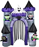 Gemmy 9' Tall x 7' Wide Haunted Archway Castle Halloween Airblown Inflatable