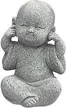 Baoblaze Mini Buddha Statue Monk Tea Pet Miniature Buddha Figurine Chinese Style Table Decoration Fengshui Ornament Decora...