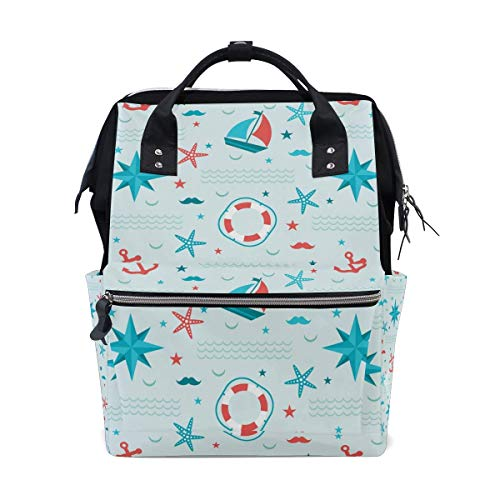 FHTDH Galaxy Nebula Meteorite Moon Night Sky Diaper Bags Mummy Tote Bags Large Capacity Multi-Function Backpack for Travel