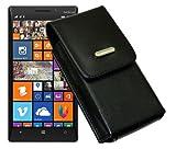 Vertikal Tasche für / Nokia Lumia 730 Dual SIM / Köcher Etui Hülle Ledertasche Vertical Hülle Handytasche mit einer Gürtelschlaufe auf der Rückseite