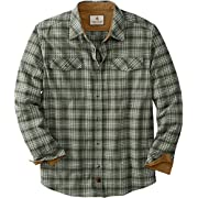 Legendary Whitetails Men's Standard Legendary Flannel Shirt, Forest Moss Plaid, Large