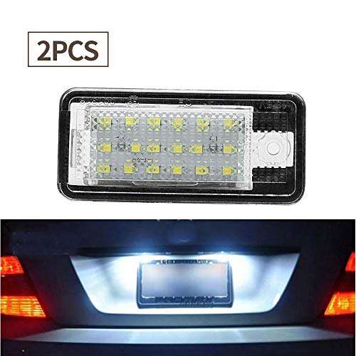 2Packs License Plate Light LED Lamps Replacement for Audi A3 A4 A6 A8 S6 Q7 RS4 RS6