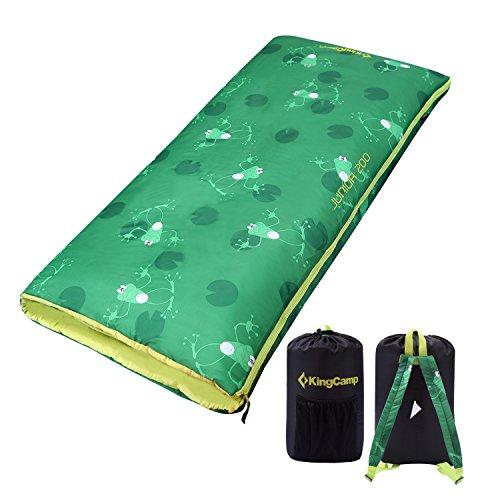 KingCamp Kinder Schlafsack Deckenschlafsack für Camping, Ultraleicht, 140 × 70 cm
