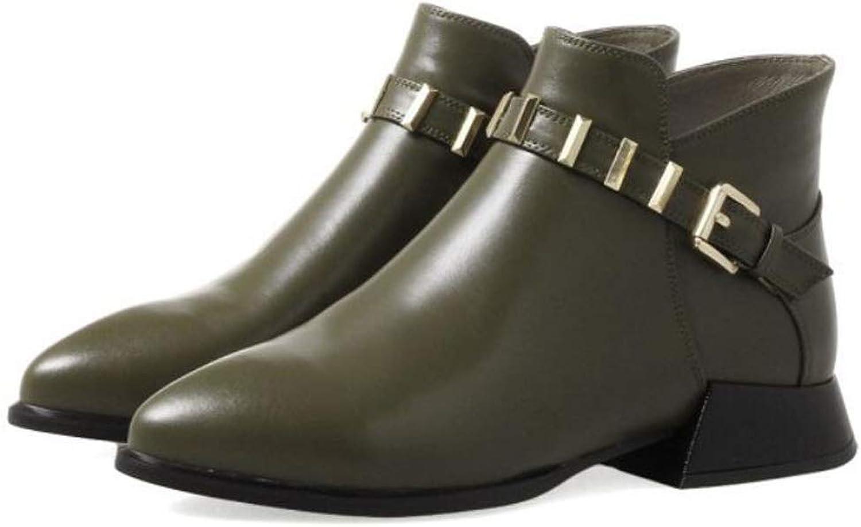DANDANJIE Womens Booties Pointed Toe Autumn Winter Martin Boots British Style