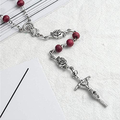 Yaoliangliang Collar Jesucristo Perfume Personalizado Rosari