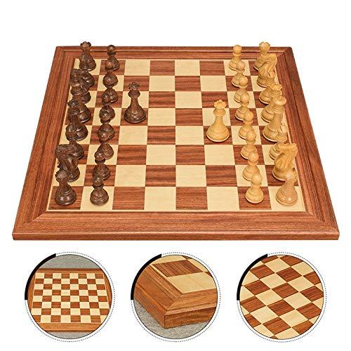 DJRH Conjunto de ajedrez Piezas talladas con Vendimia, ajedrez de Madera Classic Piezas estándar de Piezas de ajedrez para niños para niños para Principiantes Familiares