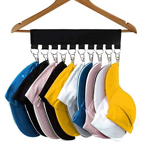 ITME Colgador Gorras, 10 Resistentes Hebillas Metálicas para Sujetar Sombreros Calcetines Toallas Cinturones de Seda, Utilizado en el Baño y Los Viajes