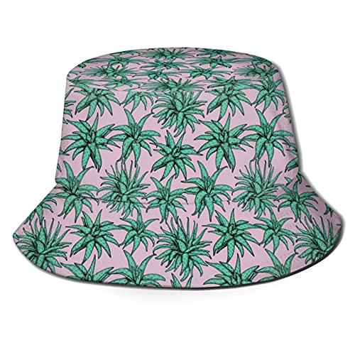 Funny Vute Chapeau seau à l'aloe vera sans coutures pliable unisexe pour la plage, les vacances, l'école, le shopping, la randonnée