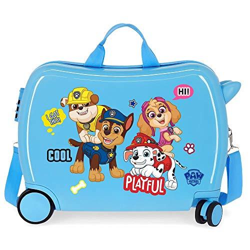 Paw Patrol La Patrulla Canina Playful Maleta Infantil Azul 50x39x20 cms Rígida ABS Cierre combinación 38L 2,1kgs 4 Ruedas Equipaje de Mano