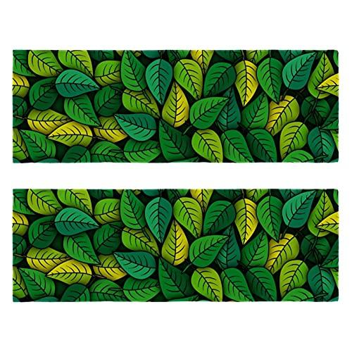 Toallas de microfibra con patrón de hojas verdes para gimnasio, toalla deportiva, súper absorbente, ultra suave, multiusos, aptas para camping, mochileros, gimnasio, playa, natación, yoga