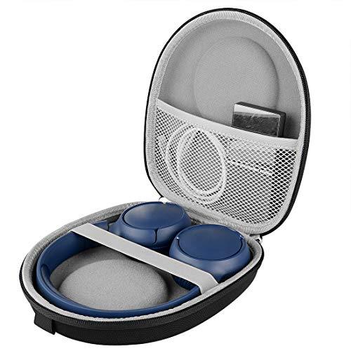 LinkIdea - Funda rígida para auriculares JBL Tune 500BT, JBL T500bt, JBL T600BTNC, JBL Live 400BT, JBL T450BT, JBL E45BT, bolsa de almacenamiento de viaje rígida con espacio para cable, piezas (negro)