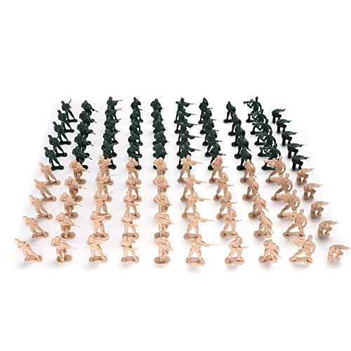 Hautton Soldato Figura Giocattolo [100 Pezzi/5cm], Soldatini Militari Plastica Personaggi Giocattolo Soldati Militari Personaggi Giocattolo D'azione in Verde e Kaki