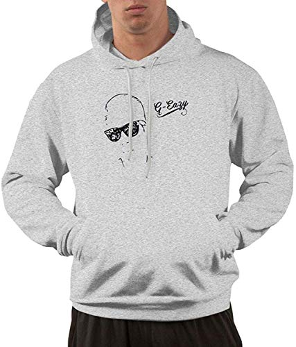 Men's Hoodie Sweatshirt G-Eazy Logo (3) New Classic Minimalist Style Gray