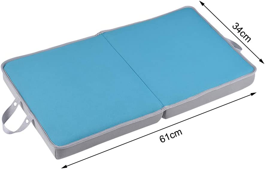 Memory Garden Kneeling Pad Extra Thick Large Kneeler for Work Bath Water Resistant Removable Neoprene/&Portable Cushion Slow Recovery with EVA Memory Shock Absorbing Green//Black//Blue//Gray