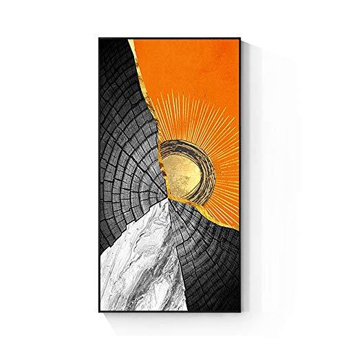 Anillos abstractos para árboles, porches, pintura decorativa para salón, dormitorio, pintura vertical, pasillo, pared 0506 (color: A, tamaño: 40 × 80 cm)