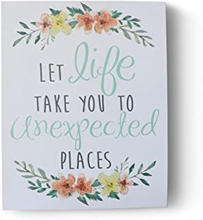 Barnyard Designs Let Life Take You to Unexpected Places Wooden Box Wall Art Sign, Primitive Country Farmhouse Home Decor Sign with Sayings 10