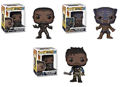 Funko POP!: Marvel: Black Panther: Pantera Negra + Pantera Negra + Killmonger