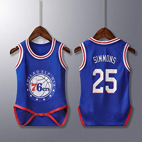 Rehot Unisexe Bébé Body - NBA Jordan 23/Curry 30/James 23/Irving 11 Maillot de Basketball sans Manches pour Body Bébé Garçon & Fille Grenouillères Barboteuses Combishort, 6-30 Mois