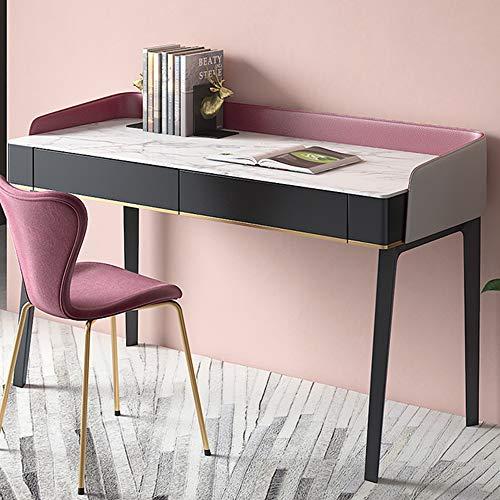 Einfacher Schreibcomputertisch, Hauptschlafzimmer-Computertisch-Werkbank mit 2 Schubladen, moderner Möbelschminktisch,...